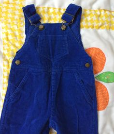 Blue Corduroy Overalls 6/9 Months by lishyloo on Etsy