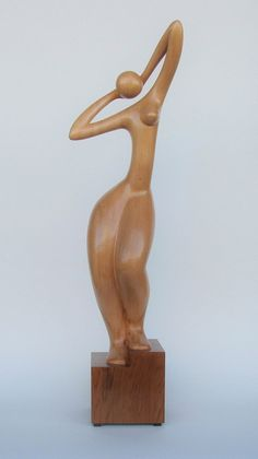 GRACE is a beautiful artistically styled nude female sculpture 100 hand-crafted from Canadian Western Cedar and Red Cedar It is one of a kind Size 19 x 3 5 x 3 5 Varnish clear semi-gloss Not stained Sculpture Clay, Abstract Sculpture, Wood Carving Art, Wooden Art, Sculpting, Etsy, Beautiful, Artwork, Red Cedar
