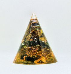 Protecting and Grounding  -   Orgone Cone Tigers Eye, Black Tourmaline and Shungite - EMF Protection by EmpowerOrgonite on Etsy