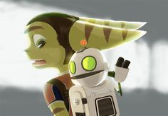 Ratchet and Clank by ~green-parrot on deviantART