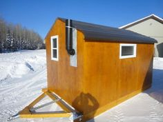 Ice Shanty Inspirations for a Comfy Ice Fishing Trip - Go Travels Plan Ice Fishing Huts, Ice Fishing Sled, Ice Fishing Gear, Fishing Shack, Fishing Tips, Ice Fishing Shelters, Fishing Stuff, Fishing Quotes, Fishing Humor