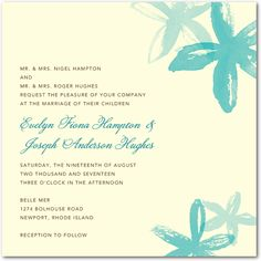 Possible wedding invitations