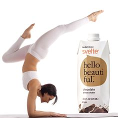 Fuel your yoga session with Svelte protein shakes! #DrinkSvelte #yoga