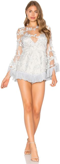 117f66688f39 Shop for Alice McCall Ziggy Stardust Romper in Silver Blue at REVOLVE.