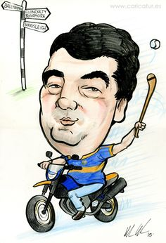 Tipperary Hurling and Motorbikes!  A caricature for a 50th birthday present completed recently.... 50th Birthyda Present Caricature in Ireland by Allan Cavanagh  #birthdaypresents #caricatureartistinIreland #caricatures #caricaturesireland #gifts Check more at https://www.caricatures-ireland.com/tipperary-hurling-and-motorbikes/