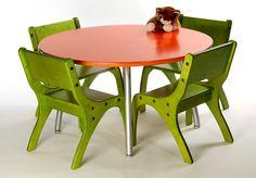Love use of bold orange/green. Maybe too modern