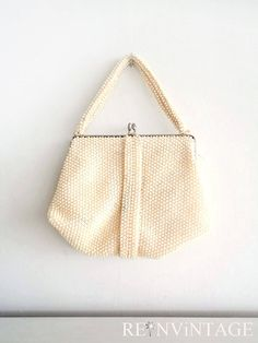 vintage purse 1950s beaded purse by shopREiNViNTAGE on Etsy