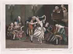 The allemande dance, March 20, 1772, Lewis Walpole Library Digital Collection