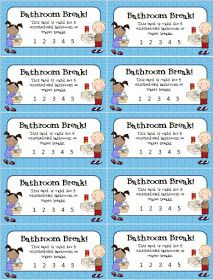 Eberopolis: Teaching Reading and Writing with Technology: Busy Weekend & Bathroom Break Freebie