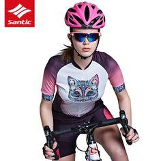 SANTIC Cycling Jersey Women 2017 Bike Short Sleeve Jersey Ultralight Bike  Clothing Riding Shirts Breathable Bicycle 6913baf2d