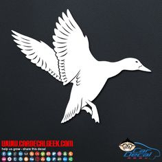 We have tons of awesome duck car decals as well as wildlife decals and hunting decals and stickers. Check out all of ducktastic decals today! #flyingduck #flyingduckdecal