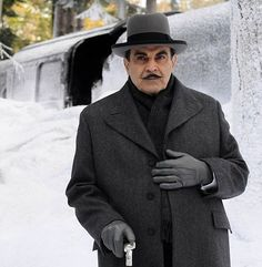 David Suchet - He has been associated with his alter ego- Hercules Poirot- and his handlebar faux moustache for a quarter of a century. But David Suchet has now confirmed that the next series of Agatha Christie's hero detective really will be his last. And Mr Suchet, 65, revealed that the show's grand finale, which will be screened next year, will conclude with Poirot, the Belgian detective, dying at the end.