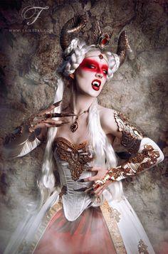 Costume: Fairytas Model, make-up, retoch: Jolien Rosanne Photographer: Viona-Art Fangs: Father Sebastiaan