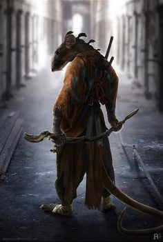 Concept Art: Splinter For TMNT (2014) & Sentinels For X-MEN: DAYS OF FUTURE PAST