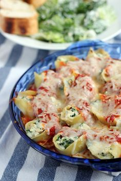 Chicken & Spinach Stuffed Shells
