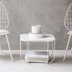 Menu Cage Tisch, Marmor