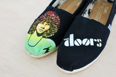 Jim Morrison Toms The Doors by BStreetShoes $159.00
