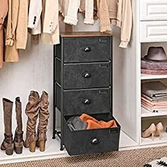 Perfect for your Baby and Nursery SONGMICS Vertical Dresser Tower, Fabric Drawer Dresser with 4 Drawers, Labels, Wooden Top, Metal Frame, Industrial Closet Storage, for Living Room, Hallway, Nursery, Rustic Brown and Black ULVT04H,SONGMICS Vertical Dresser Tower, Fabric Drawer Dresser with 4 Drawers, Labels, Wooden Top, Metal Frame, Industrial Closet Storage, for Living Room, Hallway, Nursery,...