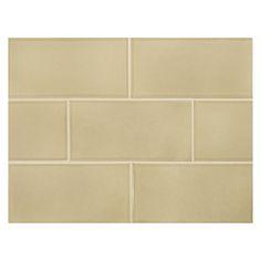 "Complete Tile Collection Vermeere Ceramic Tile - Dk. Taupe - Gloss, 3"" x 6"" Manhattan Ceramic Subway Tile, MI#: 199-C1-311-961, Color: Dk. Taupe"