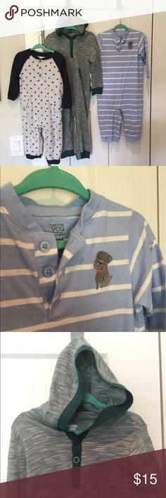 Gymboree Carter's Old Navy Romper Longall Lot Boys All excellent condition!  Carter's Bulldog 18M EUC, Gymboree Pawprints 12-18M GUC, Old Navy NWT 18-24 M but all for my son around the same time! Gymboree One Pieces