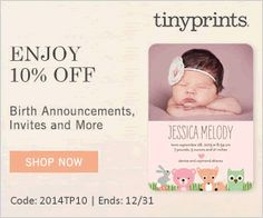 Tiny Prints Coupon Codes For This Week!  Great deals on holiday cards and gifts! - http://www.stacyssavings.com/tiny-prints-coupon-codes-for-this-week/