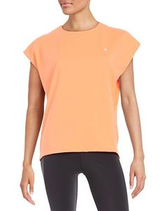 Yas Mesh Back Tee Women's Fiery Coral Medium