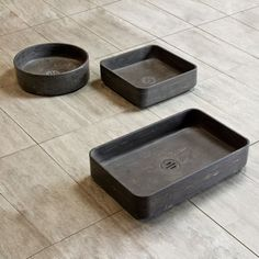This collection of vessel sinks have ultra thin rims which lends a unexpected lightness to solid natural stone.