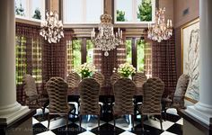 kris and bruce jenner's house  (dining room)