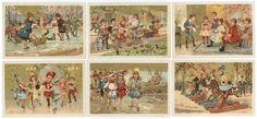 CHROMOS BON MARCHÉ - 1889 - DIVERTISSEMENTS en GROUPES. Série complète des 6[...] | Auction.fr