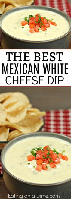 This is the Best Mexican White Cheese Dip recipe. An Authentic queso dip that tastes just like the Mexican Restaurant white sauce. Your entire family is going to love this queso blanco.