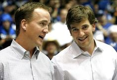 Peyton and Eli Manning. Love the Manning brothers!