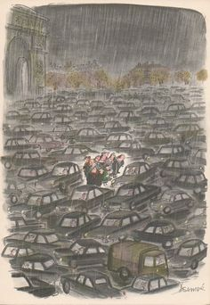 How do you catch a cold in Paris, 1961 - Sempé Art Et Illustration, Character Illustration, Graphic Design Illustration, Paris Match, Bd Comics, Paris Ville, Humor Grafico, The New Yorker, Funny Art