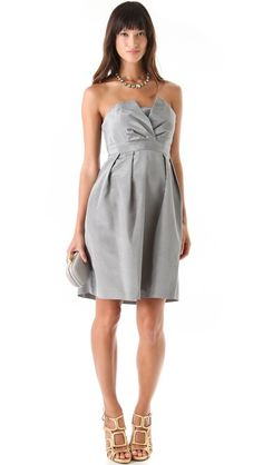 I quite like this one that its the classic style with details for a twist (Thread Liddy Strapless Dress)
