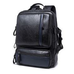 74.76$  Watch here - http://aliv1x.worldwells.pw/go.php?t=32654124271 - Mens backpacks Trendy Travel Bags IPAD bag schoolbags leather men's backpacks bolsas mochila casual packsack knapsack bickpick 74.76$