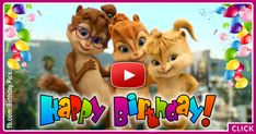 Chipmunks and Chipettes Style Happy Birthday Video For You Happy Birthday Massage, Happy Birthday Wishes Song, Happy Birthday Music, Happy Birthday Pictures, Happy Birthday Greeting Card, Birthday Songs Video, Animated Happy Birthday Wishes, Happpy Birthday, Chipmunks