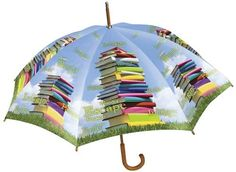 Books Stacked to the Sky Umbrella allows readers to show their support of books without ruining any books. http://www.amazon.com/s/ref=nb_sb_noss?url=search-alias%3Dstripbooks&field-keywords=mayra+porrata&rh=n%3A283155%2Ck%3Amayra+porrata