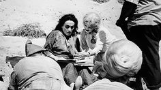 """Bette Davis and Joan Crawford on the set of Whatever Happened to Baby Jane (1962) """""""
