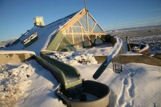 Earthship Water Catch Roof