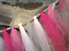 Pink Tulle Garland Bachelorette Party Shower Decor Bridal Shower Wedding Decor Swag Garland Baby Shower Decor Birthday DecorNursery #Pink #Wedding #PinkWedding #Paper