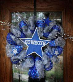 Dallas Cowboys Spirit Wreath I made!