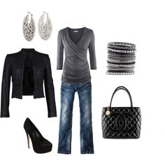 Neutral gray and black--always a winner:)