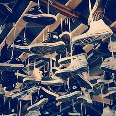 TBT when we kicked off #FaderFortConverse with this custom hanging Converse sneaker installation.  #converse #chucktaylor