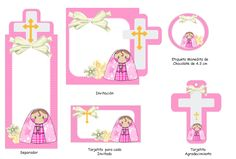 PARA IMPRIMIR: Imágenes para Primera comunión Printable Box, Free Printables, Baptism Invitations, First Holy Communion, Diy And Crafts, Projects To Try, Clip Art, Baby Shower, Scrapbook
