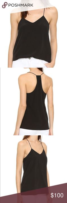 NWT Tibi Classic Racer Back Camisole Black Size 0 NWT Tibi Classic Racer Back Camisole in Black Size 0. A simple silk camisole is finished with spaghetti straps and a delicate racer back. 100% silk. Tibi Tops Camisoles