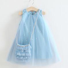 Resultado de imagen para vestido de niña de 10 años tono azules