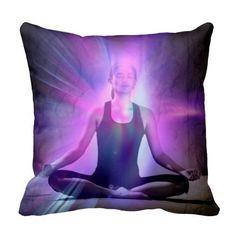 Zen meditating yogi chakra purple healing energy