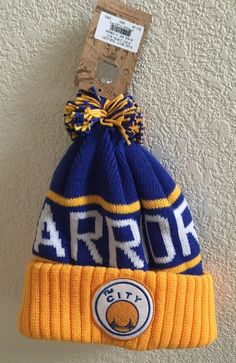 bf60d5522 Golden State Warriors 2015 Authentic Mitchell  amp  Ness Beany Knit Hat    NWT  GoldenStateWarriors