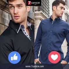 Cuál quieres elegir? Como para el negro o el amor para el azul! #quality #fresh #splau #unexpectedshopping #7camiciesplau #7camiciecollection #italia #instaglam #instalove #instalike #follow4follow #fashion #like4like #love #loveofmylife #sietecamicie #italianbrand #italian #me #men #model #shirt #exclusive #italianstyle #style #newcollection #moda #instaglam #glamour #7camicieworld