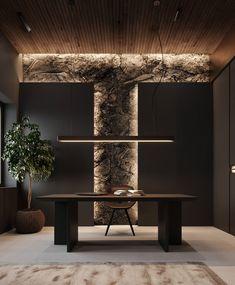 Showroom Interior Design, Modern Interior Design, Interior Architecture, Appartement Design, Luxury Office, Modern Office Design, Forest House, Office Interiors, Office Decor