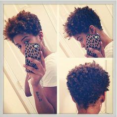 This haircut is BOMB!!! Short natural hair #tapered twa